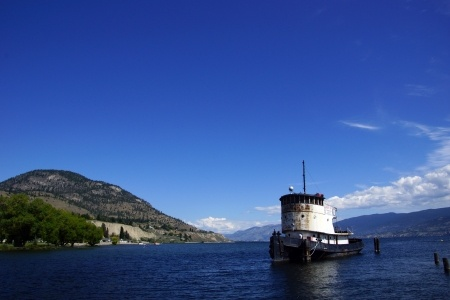Tug Boat Docked at Penticton
